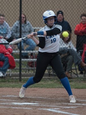 Chillicothe's Jayla Brown swings at a pitch during Tuesday's 14-6 win at Unioto.