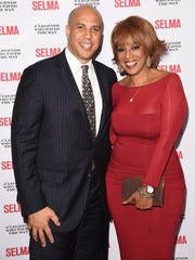 Sen. Cory Booker, D-N.J., and Gayle King attend the 'Selma' and the Legends Who Paved the Way gala at Bacara Resort in Goleta, Calif. in 2014.