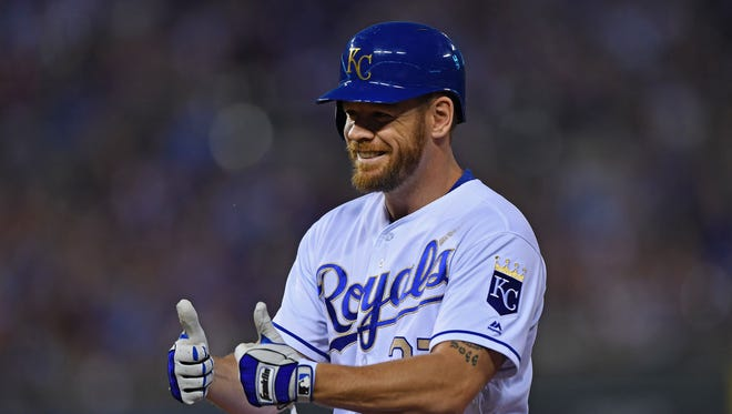 Brandon Moss hit .207 with 22 homers and 50 RBI for the Royals last season.