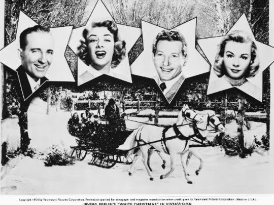 "Promotional materials for ""White Christmas,"" which was the biggest hit of the year at the box office when it was released in 1954."