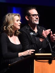 "Actors Hilarie Burton and Jeffrey Dean Morgan open the ""Ghost Stories"" fundraiser at Bard College last year."
