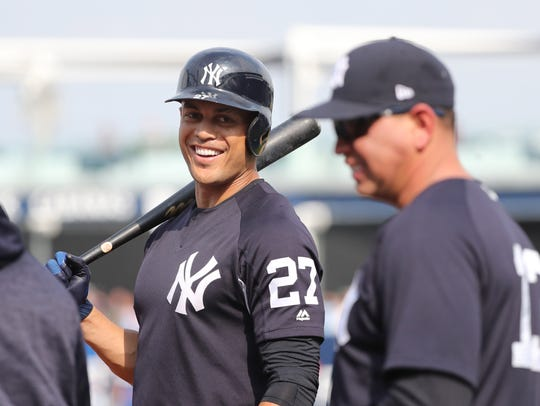 New York Yankees designated hitter Giancarlo Stanton