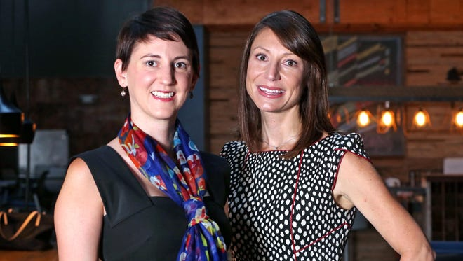 "Katie Morris (left) and Teal Cracraft, both of Indianapolis, started Speak Your Story, a new website for women to share short stories, poems and art about their life experiences. ""There is nothing more empowering than speaking up for yourself,"" the women say."