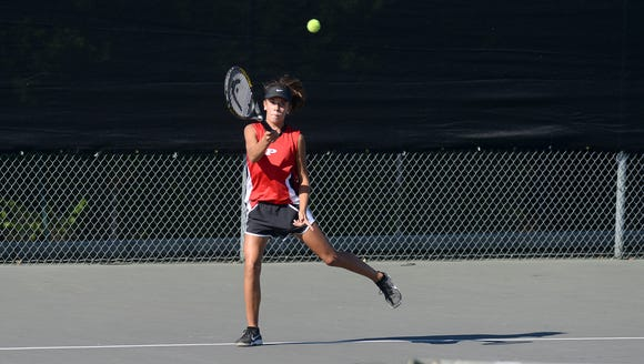 Pisgah's Maena Norris won at No. 3 singles against