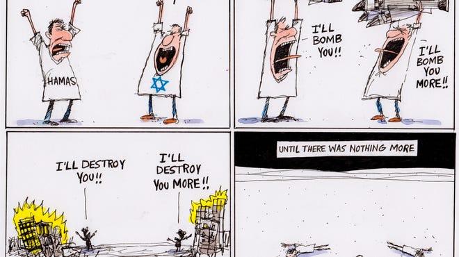 No winners in Israeli-Palestinian conflict.