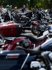 Around 500 motorcycles rode into Delaware Park Picnic