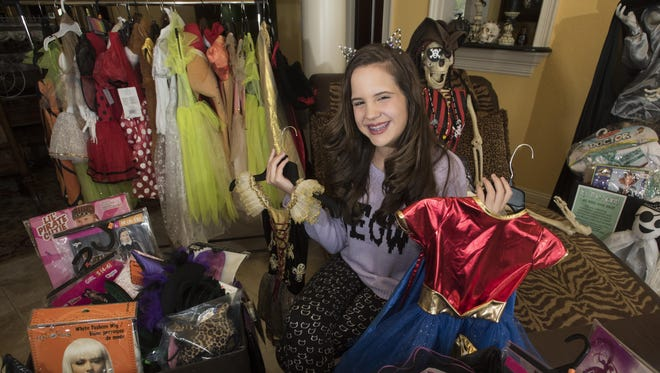 Selene Roberts, 12, has been hard at work collecting Halloween costumes for those in need. Last year, she collected about 600 costumes, and she hopes to exceed that number this year.