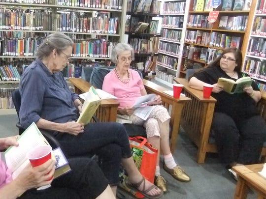 Members of the Swannanoa Library Book Club, Linda Hall