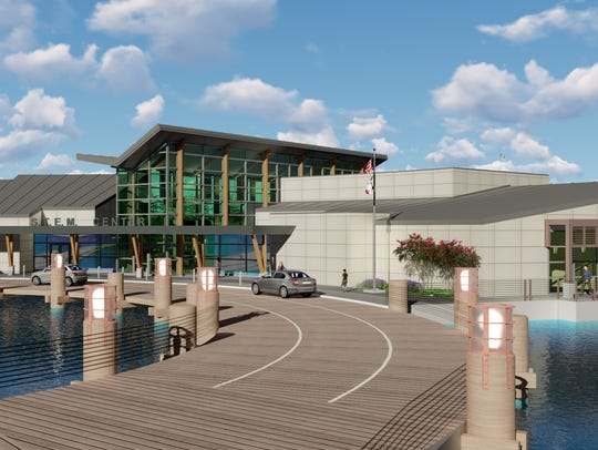 This artist's rendering shows a STEM education center