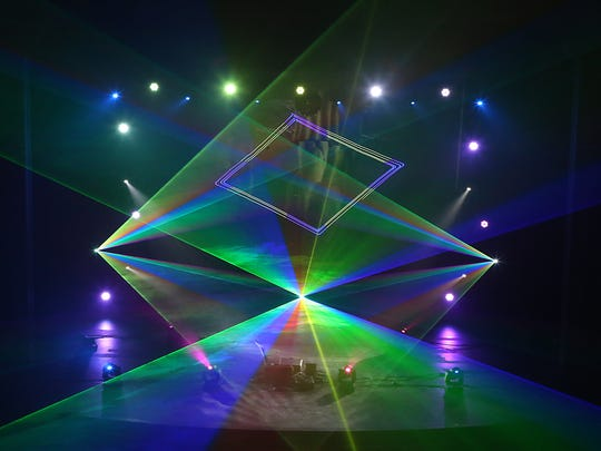 Paramount'sPink Floyd Laser Spectacular playedsongs from the band's Dark Side of the Moon, The Wall and Wish You Were Here albums, among others inside the Murphey Performance Hall Saturday, Jan. 20, 2018.