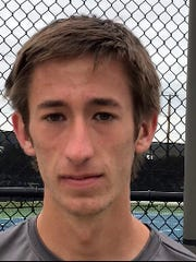 Chris Selsor of Rider won the boys singles championship at the District 5-5A Tournament.