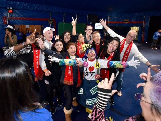 """""""This is all about creativity, and about interacting with the crowd,"""" said an instructor from the Big Apple Circus. """"It's about being larger than life. Being a human cartoon."""""""