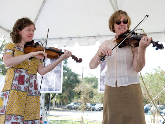 """The Magnolia Sisters, which include Anya Burgess, left, and Jane Vidrine, are Grammy nominees for their """"Love's Lies"""" CD."""
