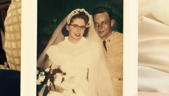 Janice and Dean Chaney on their wedding day in 1950.