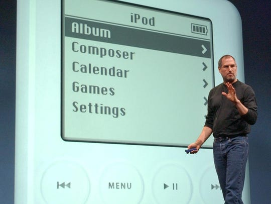 In this April 28, 2003 file photo, Apple Computer Inc.