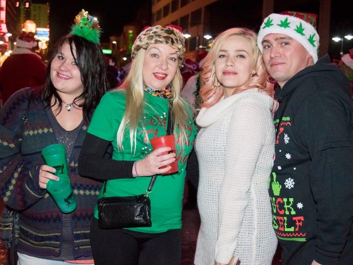Ho Ho Ho! The annual Santa Crawl kicked off on Saturday,