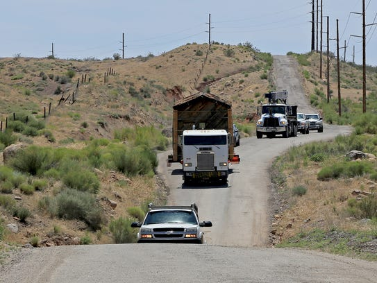 The Silver Reef jail travels Tuesday along Old Highway