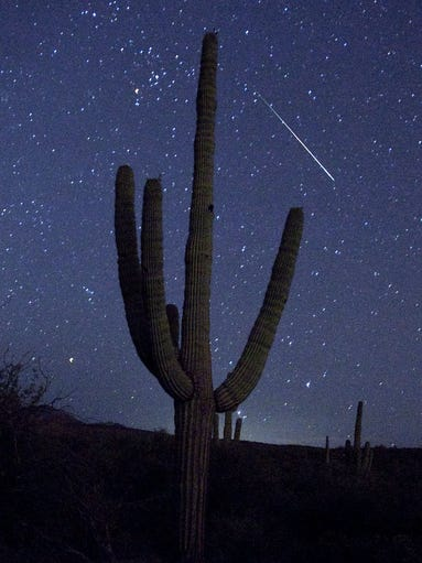 FILE PHOTO -- The August 2010 Perseid meteor shower