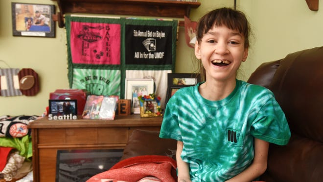 Baylee Thompson will welcome visitors to the 13th, and final Bet on Baylee event on Saturday. Proceeds from the event go to research Mitochondrial Disease. The event has raised $91,000 for the United Mitochondrial Disease Foundation.