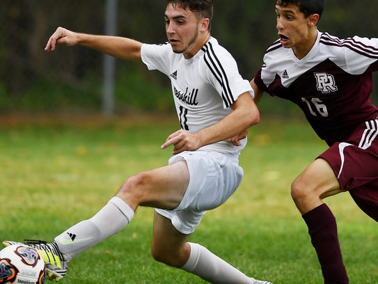 Park Ridge at Cresskill in boys soccer on Wednesday,