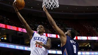 The Sixers did not re-sign James Nunnally, left, after his second 10-day contract expired, deciding instead to call up Adonis Thomas from the NBA Development League.