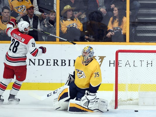 NHL: Carolina Hurricanes at Nashville Predators