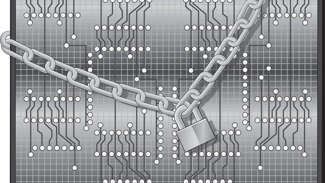 Cybersecurity illustration.