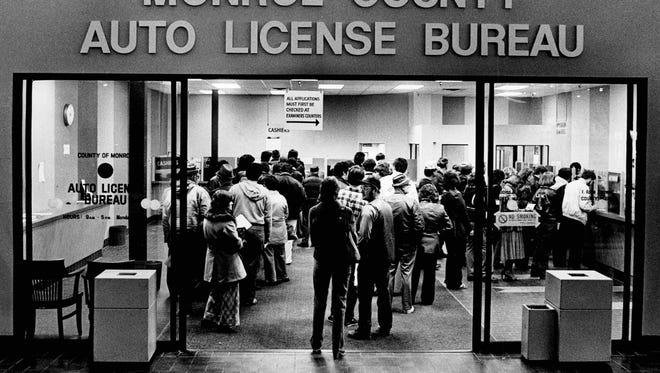 Long lines like this one from 1981 might be a thing of the past.
