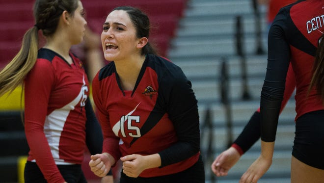 Centennial setter Raquel Gonzales (15) is one the top returning players for the Hawks.