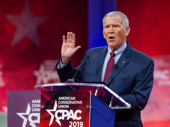 Oliver North, president of the National Rifle Association,