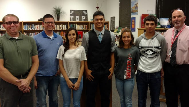 Four outstanding Loving High School students received the Falcon Focus Student of the Month award in April.