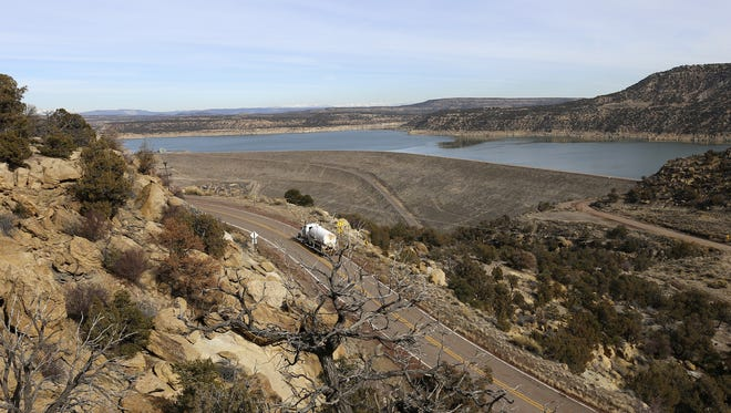 Navajo Lake is seen from New Mexico State Highway 539 on Jan. 20, 2015, near the community of Navajo Dam.