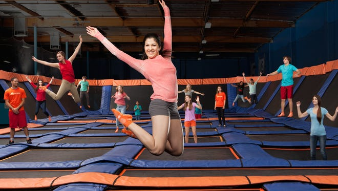 Sky Zone's all-walled trampoline courts are designed as a fun and fit outing for all ages.