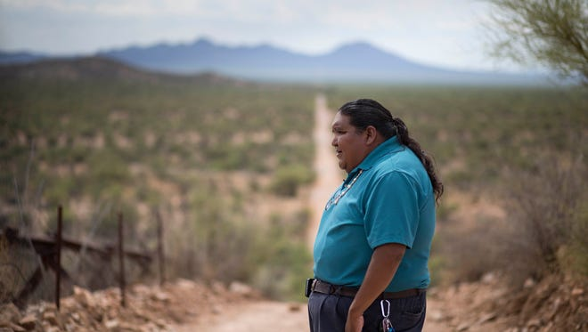 Verlon Jose says a border wall on Tohono O'odham land would draw indigenous people from across the world for a fight larger than the one against the Dakota Access Pipeline on land belonging to the Standing Rock Sioux Tribe.