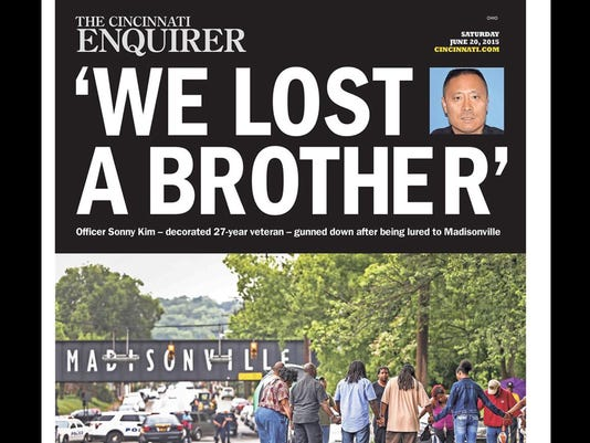 The Enquirer front page after Sonny Kim's death