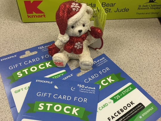 New Gift Card for Stock cards are found near the Kmart register in time for the holidays.