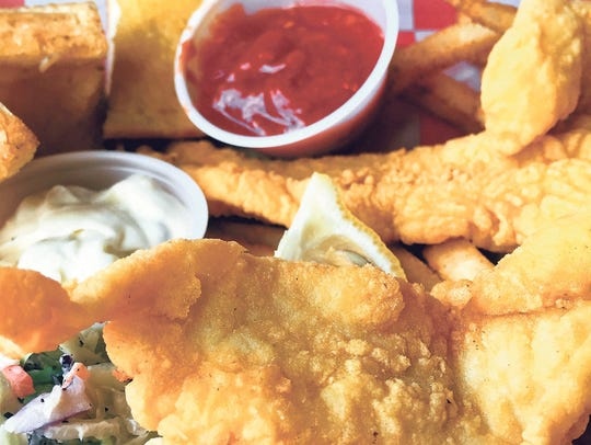 The fried catfish at The Lost Cajun features a light,