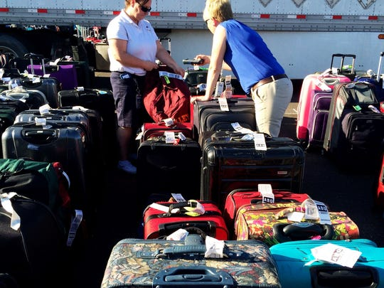 More than 3,000 bags missed flights after a TSA computer glitch caused a massive backup at Sky Harbor on May 12, 2016.