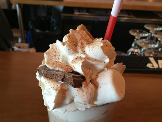 The S'Mores milkshake at Burger Republic has vanilla ice cream, marshmallow and hand-crushed graham crackers