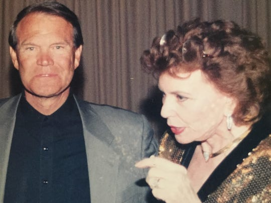 Glen Campbell is shown during an interview several