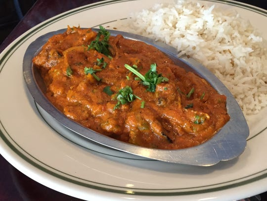 Jake Laxen dined on the lamb masala.