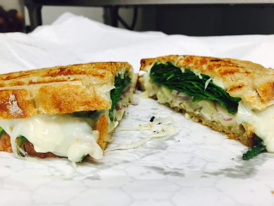 Cheesy Popper sandwich at King's Corner Deli in Burlington.