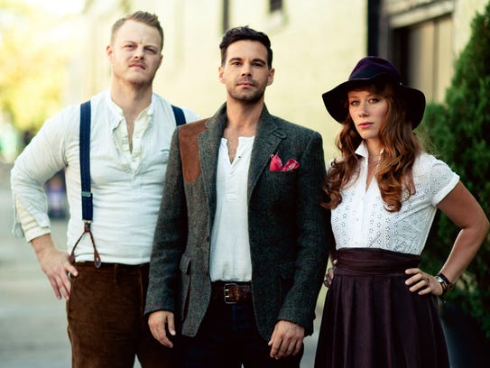 From left, The Lone Bellow is Brian Elmquist, Zach