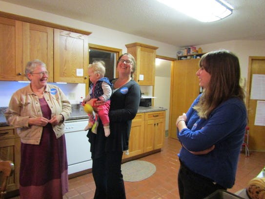 Bernie Sanders supporters moved to the kitchen of Bill