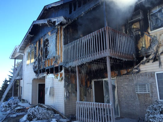 Fire gutted several apartments and other apartments