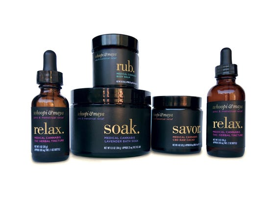 Medical marijuana products from the Whoopi & Maya line. (Credit: Whoopi & Maya)