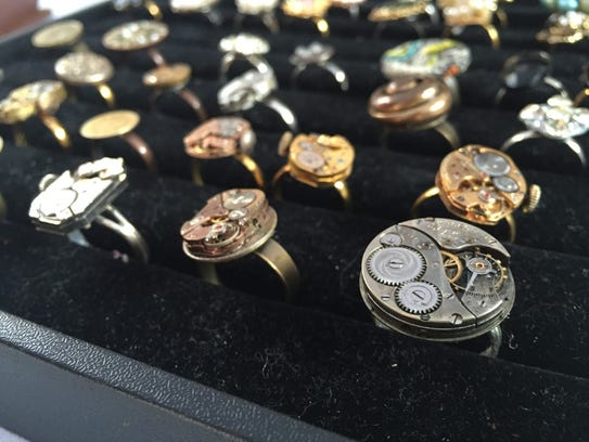 These rings were made by Lancaster's [Re]Chic from