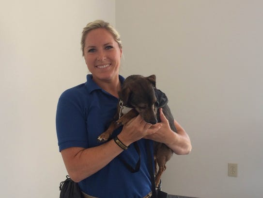 Paula and Rosie Rose canine bed bug detection team in Cinci