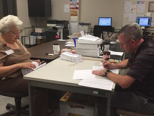 Clerk Joan Sauers and Voter Registration Office Director