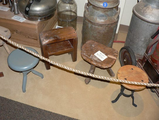 Milk stools, many of which were homemade, came in varying